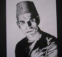 Boris Karloff by Mike Calhoun