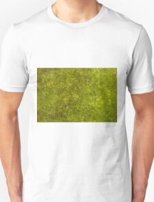 Green algae with air bubbles on a lake surface. T-Shirt