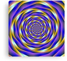 Vortex in Blue Orange and Violet Canvas Print