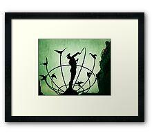 Statue in Toronto Framed Print