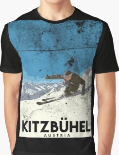 Ski Kitzbühel Austria (eroded) Graphic T-Shirt