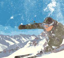 Ski Kitzbühel Austria (eroded) Sticker