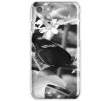 B & W Butterfly On a Leaf iPhone Case/Skin