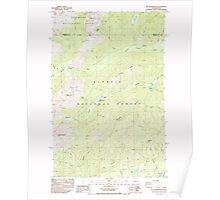 USGS Topo Map Washington State WA Mt Washington 242726 1985 24000 Poster