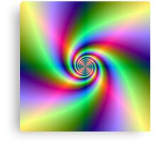 Psychedelic Neon Spiral Canvas Print
