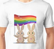 Skip & Pip (aka the Pride Bunnies) Unisex T-Shirt