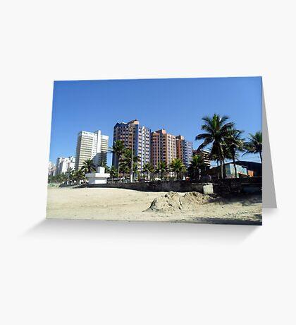 Landscape Litoral São Paulo Brazil Sand Greeting Card