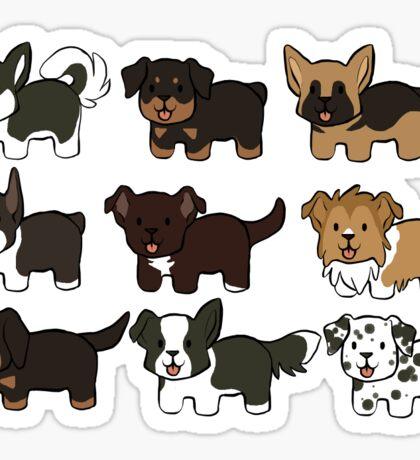 Bean Dogs Sticker
