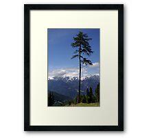 Overlooking Stubaier Alps  Framed Print
