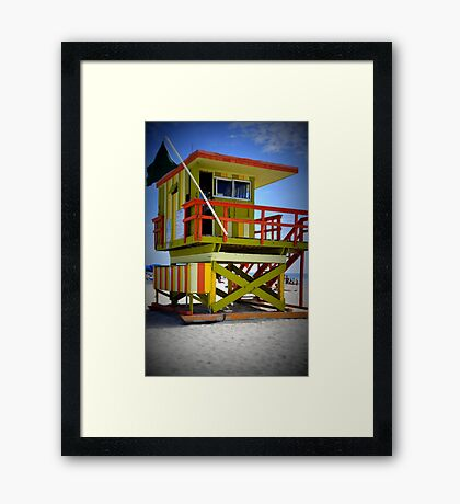 Miami Shack Framed Print