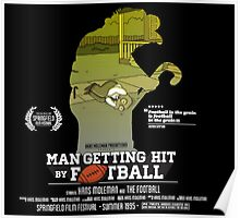 Man Getting Hit By Football Poster