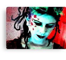 Lady Punk Rock Canvas Print