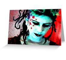 Lady Punk Rock Greeting Card