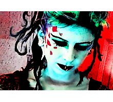 Lady Punk Rock Photographic Print