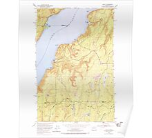 USGS Topo Map Washington State WA Holly 241555 1953 24000 Poster
