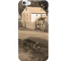 Sepia Old Red Mill iPhone Case/Skin