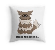 Release Your Zigzagoons Throw Pillow