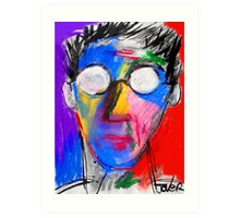 this is me (if i was made from crayons and stuff) Art Print