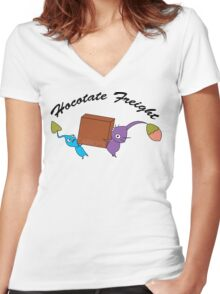 Hocotate Freight Women's Fitted V-Neck T-Shirt
