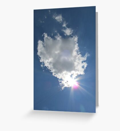 Sky Sun The Clouds West Of The Sun Landscape Greeting Card