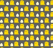 Egg and Chick Pixel by yolklabs