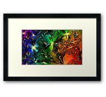 BUTTERFLIES ARE FREE, SO ARE YOU AND ME Framed Print