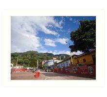 Bogota Quevedo Jet Sky Colombia Art Print