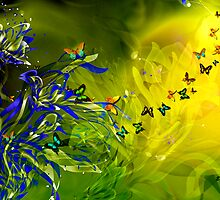 LILIES AND BUTTERFLIES by Elizabeth Giupponi