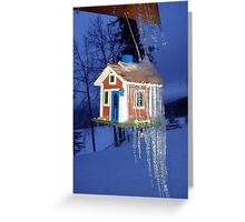 Ice Cold Winter Ice Cycles Snow Nature Greeting Card