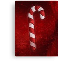 A Candy Cane For Christmas Canvas Print
