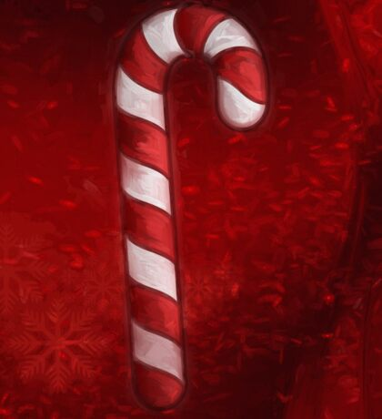 A Candy Cane For Christmas Sticker
