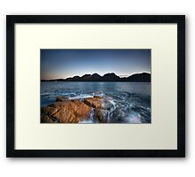 Sunset at Coles Bay Framed Print