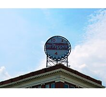 Downtown with Dr Pepper Photographic Print