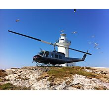 South Solitary Island - Huey Helicopter Photographic Print