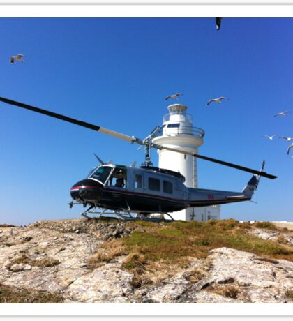 South Solitary Island - Huey Helicopter Sticker