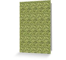 Green Zig-Zag Knit Greeting Card