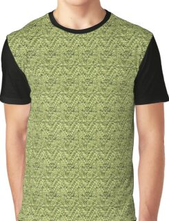 Green Zig-Zag Knit Graphic T-Shirt