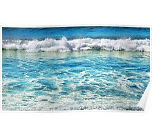 Sapphire Surf Poster