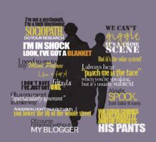 Sherlock and John quotes (Yellow font) by rideqhs
