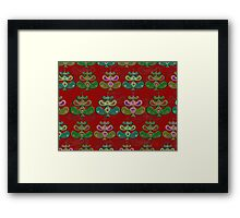 """Scandinavian Christmas Trees""© Framed Print"