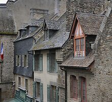 Shapes in the Roof ( 3 ) Mont Saint Michel by Larry Lingard-Davis