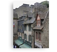 Shapes in the Roof ( 3 ) Mont Saint Michel Canvas Print