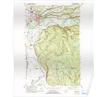 USGS Topo Map Washington State WA Monroe 242376 1993 24000 Poster