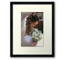 Bride Wedding Flower Bouquet Painting - Clipart 54355 Framed Print