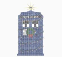Police Box Christmas Knit One Piece - Long Sleeve