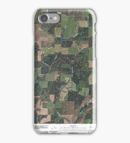 USGS Topo Map Washington State WA Plaza 20110401 TM iPhone Case/Skin