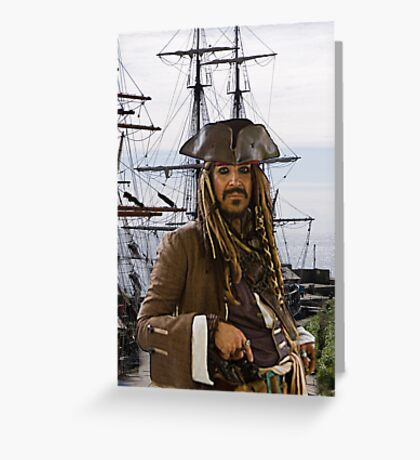 Pirate & Tall Ship Greeting Card