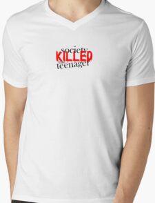 Society Killed the Teenager Mens V-Neck T-Shirt