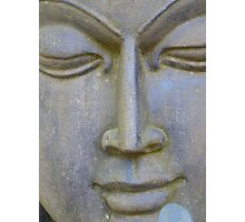 Face Stone Head Sculpture Asia Photographic Print