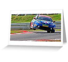 btcc two wheel action Greeting Card